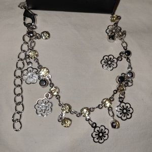 Flower and yellow gems Bracelet.